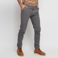 VENGOZ Celana Chino Pria Slim Fit - Light Grey - 31