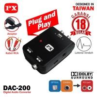 Converter Digital Optical Coaxial to Analog RCA Audio PX DAC-200