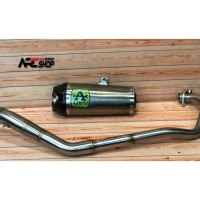 Knalpot Arrow Works Titanium CBR 150R Facelift Fullsystem Stainless
