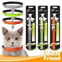 Kalung Collar Aksesoris Kucing Kitten Lonceng Bell Motif Paw 3 Warna