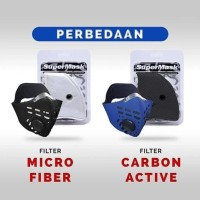 Refill Filter Masker Supermask SOS Activated Carbon Filter ACF 1Pcs