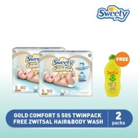 Sweety Gold Comfort S 50s TWINPACK FREE Zwitsal Hair&Body Wash