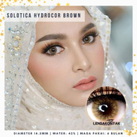 Softlens sweety solotica hydrocor brown / coklat