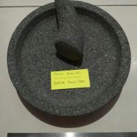 1 Set Cobek Batu Asli Bubut uk.28