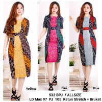 Dress Batik Perempuan / Dress Batik Pesta / Dress Pesta Murah