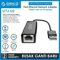 LAN TO USB ORICO UTJ-U2 USB 2.0 Fast Ethernet Network Adapter
