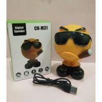 Speaker Bluetooth Digital Karakter Emoji CH-M31 TF Card + FM Radio