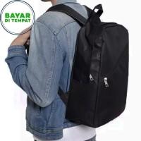 COD - Backpack Laptop Murah BM020 Tas Pria Tas Ransel Pria - Black