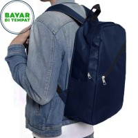 COD - Backpack Laptop Murah BM020 Tas Pria Tas Ransel Pria - Blue