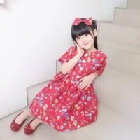 Button Dress Anak | Dress Anak motif bunga | BUTTON DRESS LENGAN MOTIF