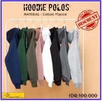 Jaket hoodie jumper . Hoodie polos bahan cotton flace