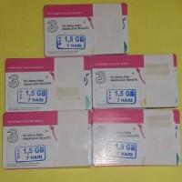 VOUCHER TRI / THREE 1,5 GB 7HarI ( Jabodetabek ) MINI 2