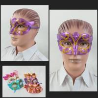 Topeng Pesta Glitter Warna / Topeng Zorro / Party Mask Gliitter