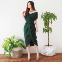 V104 - Alija Premium Twisted Dress / 12 WARNA / 3 Size MURAH