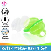 YOUNG YOUNG Kotak Makan Bayi Baby Lunch Box Spoon Set Gagang IL-228 Hi