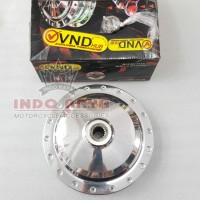 Tromol Belakang VND Model Drag Slim CNC Polos Warna Chrome Mio Xeon
