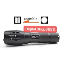 TERLARIS Senter LED Tactical CREE XML-T6 8000 Lumens with Baterai plus