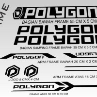 Stiker Frame Sticker Decal Sepeda POLYGON BISA CUSTOM