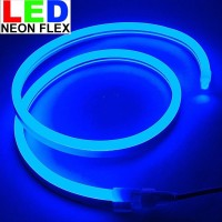 Lampu Led neon flex Rope light Custom Warna Biru Blue meteran