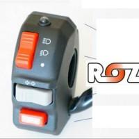 SAKLAR HOLDER ROZ #1 - LAMPU DEPAN+SEIN+HORN+ LED BIRU BEAM spare p