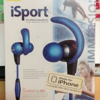 New [MONSTER] iSport Immersion In-Ear Headphones with ControlTalk, Blu