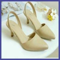Hot Sendal Wanita Sepatu High Heels Wanita Cewe Pesta Hak Tinggi Bukan