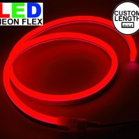 Lampu Led neon flex Rope light Custom Warna merah Red meteran