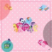 Jilbab segiempat anak printing motif little pony versi2