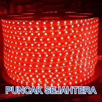 Lampu Strip Rope LED 5050 Warna Merah Red 5050 IP44