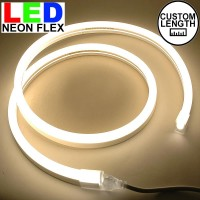 Lampu Led neon flex Rope light Custom Warna Kuning WarmWhite meteran