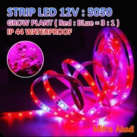 Lampu LED Strip Fleksibel SMD 5050 GROWPLANT IP44 DC 12V WATERPROOF
