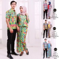SIMIFASHION couple kebaya set & kemeja batik solo asli alieka premium