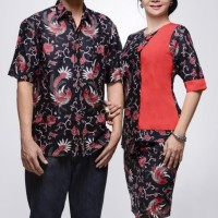 SIMIFASHION couple kebaya set dan kemeja batik solo Asli M L XL