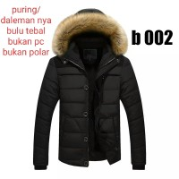 jaket hoodie bulu pria winter musim dingin