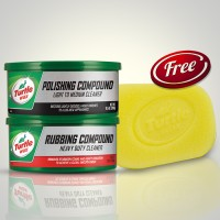 Turtle Wax BUNDLE Polishing Dan Rubbing Compound Pasta Free Spons