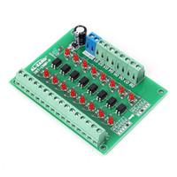 8Bit Channel Optocoupler Isolator 24V to 3.3V PLC Signal Converter