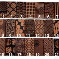 Kain batik katun prima Pekalongan motif coklatan
