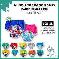 [Isi 2] Klodiz XL Training Pants/ Celana Dalam Latihan Pipis Anak - Cowok