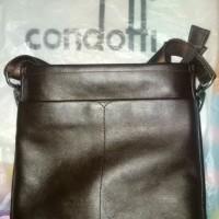 sling bag tas selempang kulit asli merk condotti original authentic
