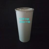 Paper cup 22oz cc + lid.