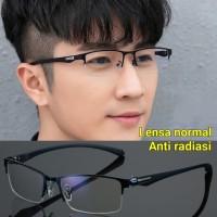 kacamata pria wanita anti radiasi Komputer TV HP frame titanium