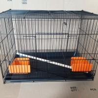 Kandang umbaran lipat buat kucing kelinci hamster 46x31x37