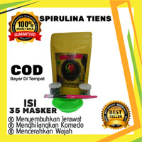 Spirulina Asli Masker Wajah Original FREE ONGKIR Kuas Dan Mangkuk