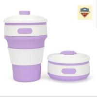 Gelas Lipat Portable / Gelas Lipat / Travel Cup / Folding Cup - Purple