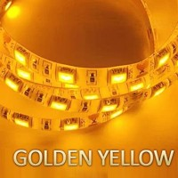 NEW SPECIAL COLOUR LED Strip Fleksibel SMD 5050 DC12V IP44 WATERPROOF - Golden Yellow
