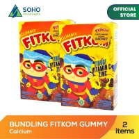 Fitkom Gummy Vit C and Zinc - Isi 5 Sachet @24g - Pack Of 2 Box