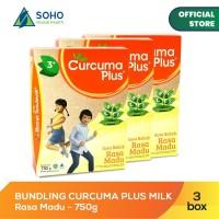 Curcuma Plus Susu Bubuk Ekstrak Temulawak - Madu 750g - Pack Of 3 Box