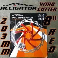 Baru Rotor Alligator Wind-Cutter RED 203mm 8 inci piring cakram rem