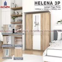 Lemari Helena Olympic 3 Pintu Cermin Minimalis