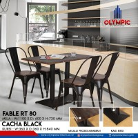 Meja cafe industrial modern meja makan modern Olympic Fable RT 80